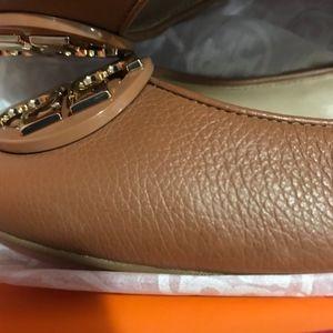 3d676316234d Tory Burch Shoes - Tory Burch Claire Royal Tan Ballerina Flats Size 9